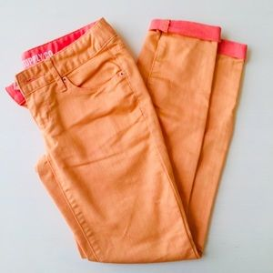 Mossimo skinny orange jeans